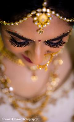 Indian bride's eye close up capture.