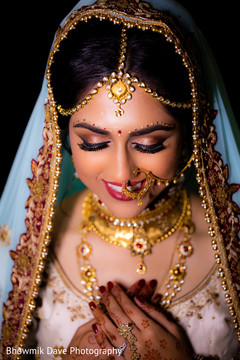 Beautiful Indian bride ready for wedding ceremony.