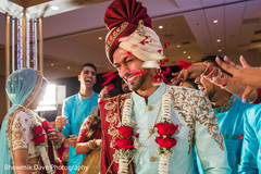 Indian groom celebrating his wedding ceremony.