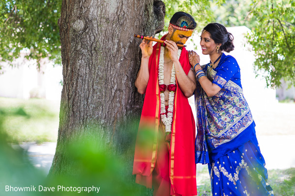 indian bride and groom,indian pre-wedding celebration,haldi ceremony