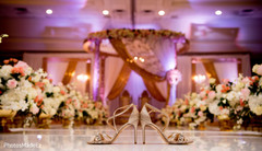 Shoes capture on amazing wedding stage