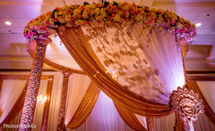 Glowing indian wedding stage
