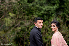 Graceful indian bride and groom photo session
