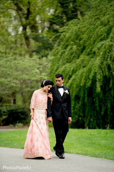 Perfect indian bride and groom outdoor photo session