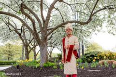 Amazing outdoor photo shoot of indian groom