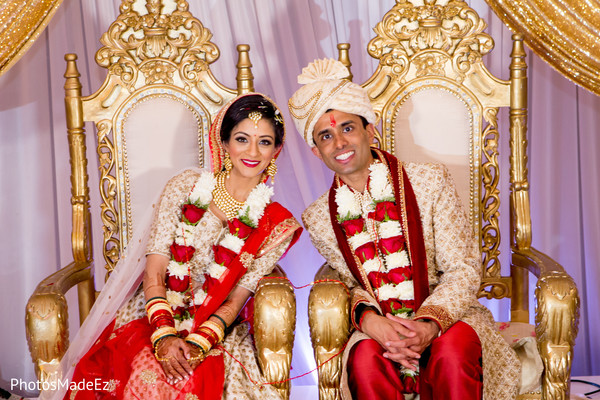Glamorous indian couple portrait