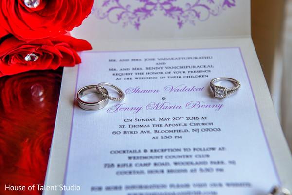 Wonderful capture of Indian bride and groom's wedding rings.