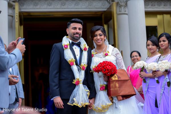 Indian bride and groom Joyful moment.