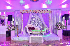 Fascinating Indian wedding mandap flowers decoration.