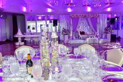 Marvelous Indian wedding reception table setup.
