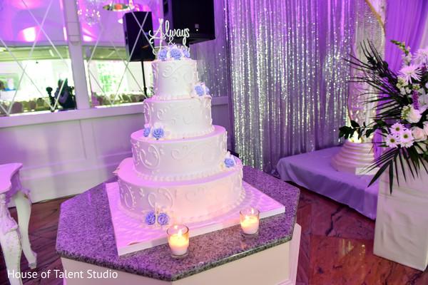 Majestic Indian wedding cake capture.
