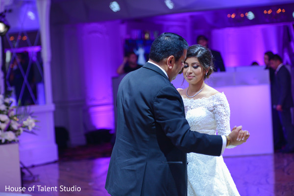 Sweet father and daughter Indian wedding dance.