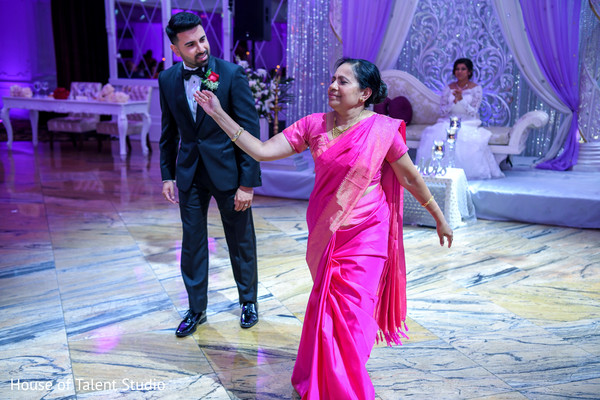 Lovely mother and Indian groom's dance.