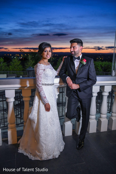 Glamorous Indian bride and groom capture.