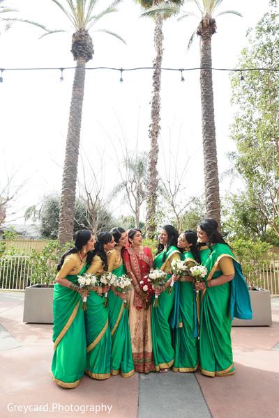 Beautiful indian bridesmaids