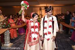 Indian bride cheering