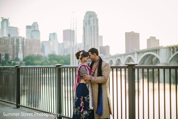 Vibrant portrait of indian couple