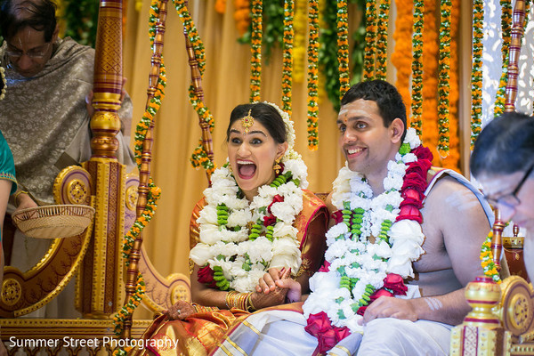 Adorable indian lovebirds laughing