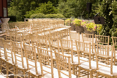 Stunning wedding ceremony seats portrait.