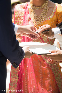 Indian groom about to sign capture.
