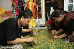 Indian pre-wedding ritual capture.