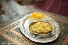 Indian pre-wedding haldi items.