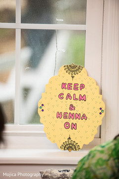 Lovely Indian pre-wedding decoration sign.