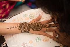 Delicate design for mehndi art.