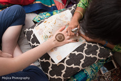 Mehndi art being done capture.