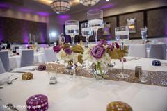 Amazing Indian wedding reception table setup.
