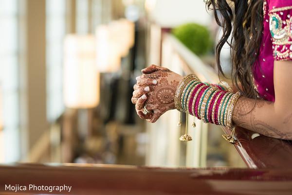 Maharani's hands close up capture.
