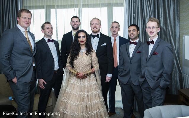 indian wedding gallery,indian bride and groom,indian groomsmen
