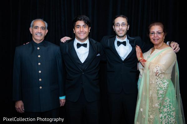 Elegant indian wedding guests portrait
