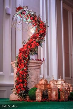 Majestic sangeet mandap decoration.