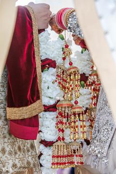 Indian wedding bride's Kalire closeup.