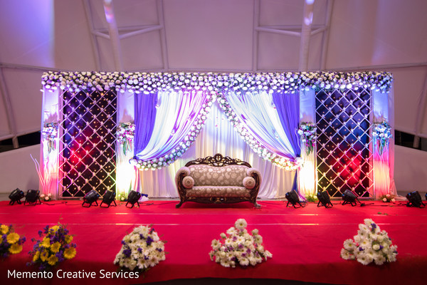Indian Wedding Reception Stage Decor Photo 183836