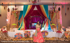 Indian bride's sangeet photoshoot
