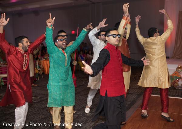 Indian groomsmen dance performance