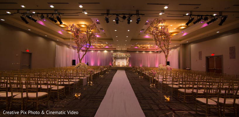 Dreamy indian wedding ceremony decor