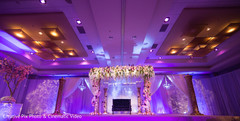 Indian wedding reception stage decor
