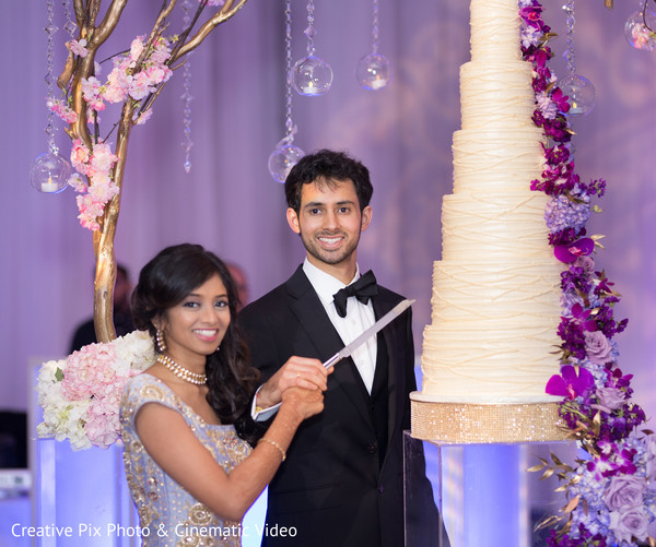 indian weding reception,indian wedding reception photography,indian bride and groom,indian wedding cake