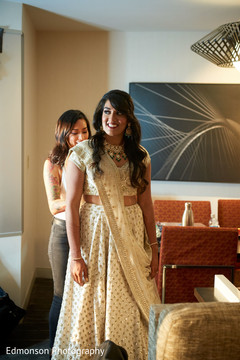 Maharani getting ready for wedding reception.