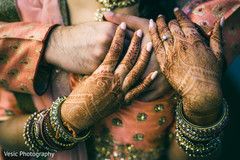 Indian bride's mehndi art