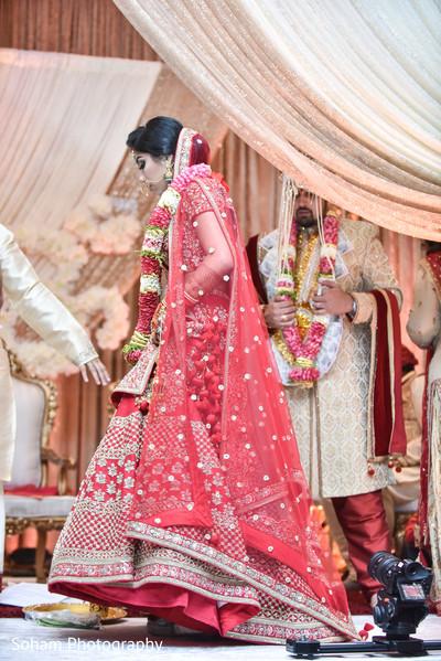Maharani entering her wedding ceremony capture.