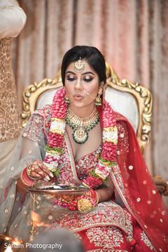 Maharani at her wedding ritual capture.