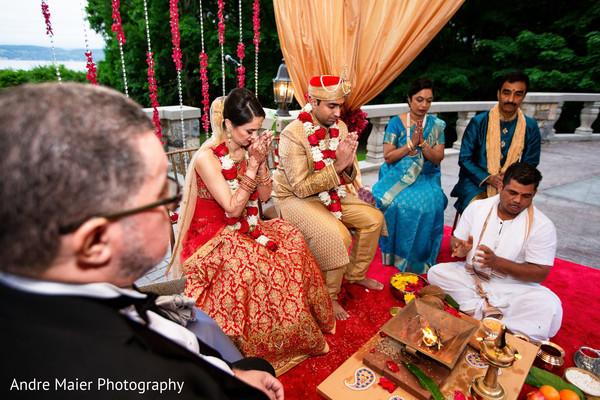 Indian lovebirds praying capture