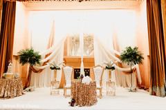 Delightful indian couple's reception table decor