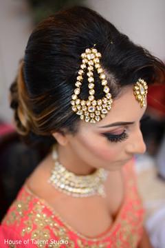 Marvelous tikka on maharani's forehead.