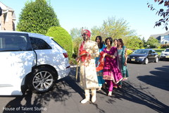 Indian groom on its way to wedding ceremony.