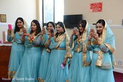 Joyful moment of Indian bridesmaids capture.
